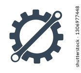 repair icon. gear and wrench....