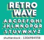 colorful retro vintage... | Shutterstock .eps vector #1306984558