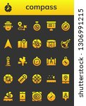 compass icon set. 26 filled... | Shutterstock .eps vector #1306991215