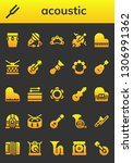 acoustic icon set. 26 filled... | Shutterstock .eps vector #1306991362