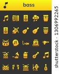 bass icon set. 26 filled bass... | Shutterstock .eps vector #1306992265