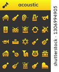 acoustic icon set. 26 filled... | Shutterstock .eps vector #1306994905