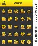 cross icon set. 26 filled cross ... | Shutterstock .eps vector #1306996135