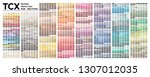 color table pantone of the... | Shutterstock .eps vector #1307012035