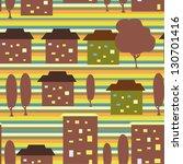 city seamless ornament  | Shutterstock .eps vector #130701416