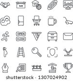 thin line icon set   handshake...   Shutterstock .eps vector #1307024902