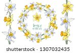 stock vector floral set of... | Shutterstock .eps vector #1307032435