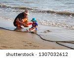china  hainan island  sanya bay ...   Shutterstock . vector #1307032612