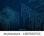 abstract texture with the... | Shutterstock .eps vector #1307033722