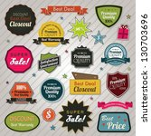 sales price tags stickers and... | Shutterstock . vector #130703696