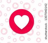heart icon on simless... | Shutterstock .eps vector #1307040142