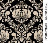 vector damask seamless pattern... | Shutterstock .eps vector #1307051212