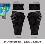 leggings pants for gym | Shutterstock .eps vector #1307052805