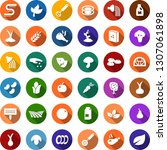 color back flat icon set  ... | Shutterstock .eps vector #1307061898