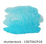 watercolor blue spot isolated... | Shutterstock . vector #1307062918