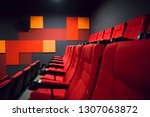 large empty cinema hall seats.... | Shutterstock . vector #1307063872