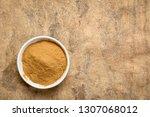 green coffee beans powder   top ... | Shutterstock . vector #1307068012