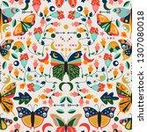 seamless  tileable wallpaper... | Shutterstock .eps vector #1307080018