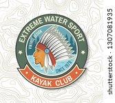 kayak club. vector. concept for ... | Shutterstock .eps vector #1307081935