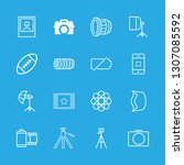 16 photograph icons with... | Shutterstock .eps vector #1307085592