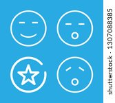 mouth icons set with smiling... | Shutterstock .eps vector #1307088385