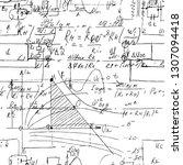 scientific seamless texture... | Shutterstock .eps vector #1307094418