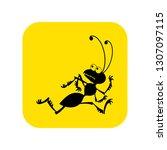 running ant icon vector. vector ... | Shutterstock .eps vector #1307097115