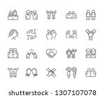 set of friendship related... | Shutterstock .eps vector #1307107078