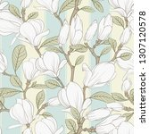 seamless pattern floral... | Shutterstock .eps vector #1307120578