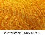 golden reflective liquid... | Shutterstock . vector #1307137582