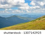 spring mountain scenery in... | Shutterstock . vector #1307142925