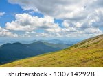 spring mountain scenery with... | Shutterstock . vector #1307142928