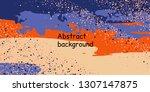 trendy multicolored stripes... | Shutterstock .eps vector #1307147875