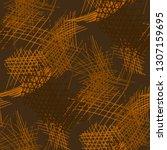 various hatches. seamless... | Shutterstock .eps vector #1307159695