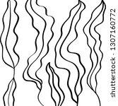 handdrawn leaf pattern...   Shutterstock .eps vector #1307160772
