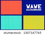 abstract geometric wave line... | Shutterstock .eps vector #1307167765
