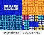 abstract geometric square... | Shutterstock .eps vector #1307167768