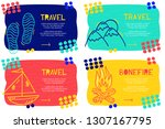 set abstract landing page... | Shutterstock .eps vector #1307167795