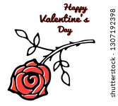 happy valentine s day card... | Shutterstock .eps vector #1307192398