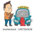 illustration of driver...   Shutterstock .eps vector #1307202628