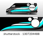 car wrap company design vector. ... | Shutterstock .eps vector #1307204488