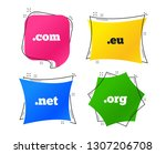 top level internet domain icons.... | Shutterstock .eps vector #1307206708