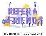refer a friend text concept...