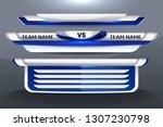 scoreboard broadcast graphic... | Shutterstock .eps vector #1307230798
