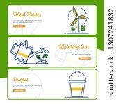 gardening banner collection... | Shutterstock .eps vector #1307241832