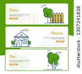 gardening banner collection... | Shutterstock .eps vector #1307241838