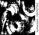 brush grunge pattern. white and ... | Shutterstock .eps vector #1307257312