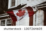 canadian flag in charlottetown | Shutterstock . vector #1307264605