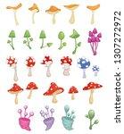set of vector cartoon... | Shutterstock .eps vector #1307272972