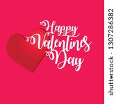 valentine day greeting card  | Shutterstock .eps vector #1307286382